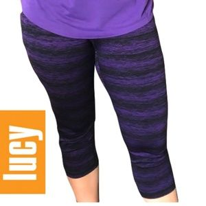Lucy Studio Hatha capri legging (size XL)